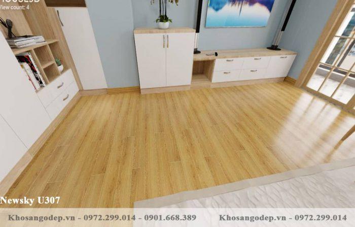 sàn gỗ Newsky cốt xanh U307