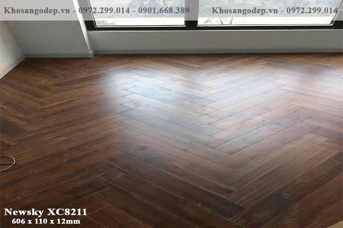 Sàn gỗ xương cá newsky XC8211