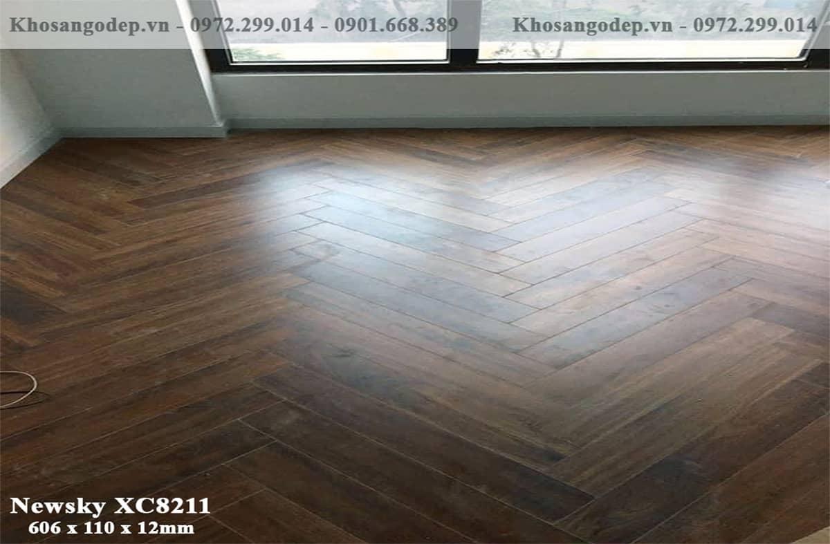 sàn gỗ xương cá Newsky