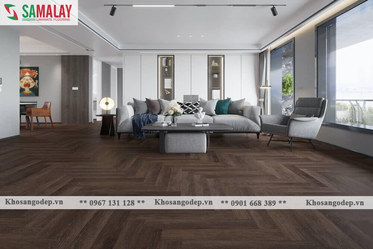 Sàn gỗ xương cá Samalay