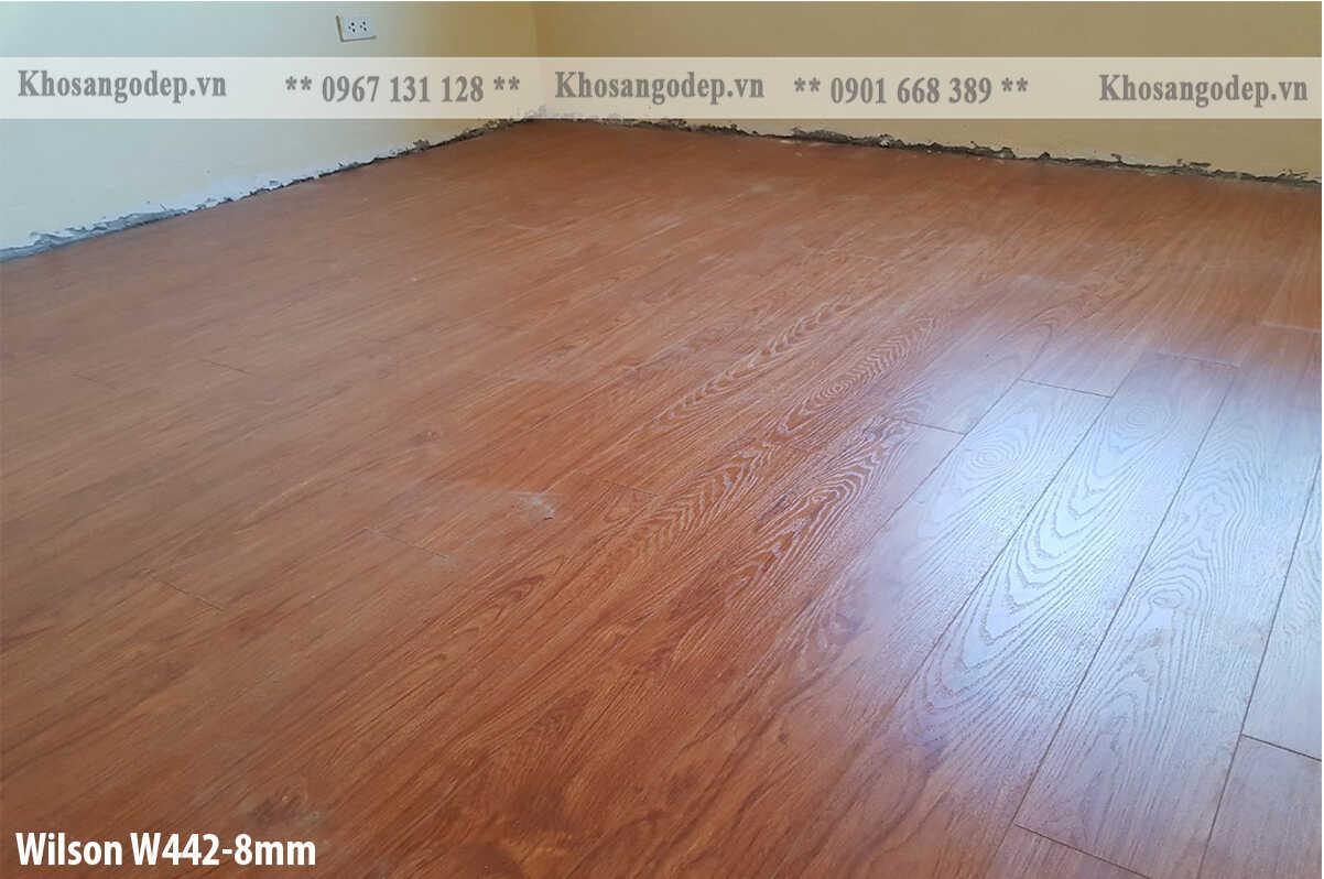 Thi công sàn gỗ Wilson